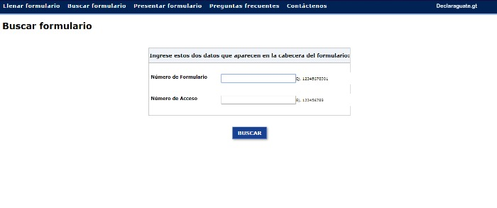 buscar formulario