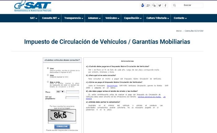 Impuesto Circulación Vehiculos
